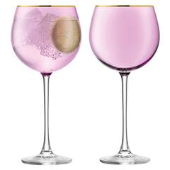 Набор из 2 круглых бокалов Sorbet, 525 мл, розовый, фото 1