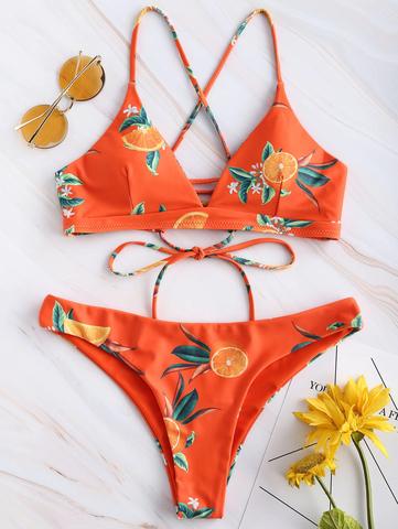 купальник раздельный оранжевый с апельсинами Happy Orange 1