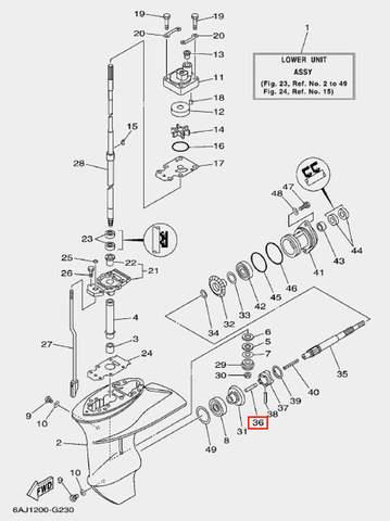 Плунжер для лодочного мотора F20 Sea-PRO (23-36)