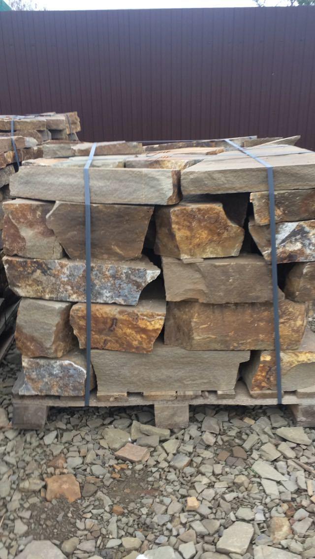 Бутовый камень кладочный Хаки на поддоне