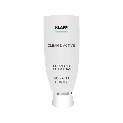 Крем-пенка очищающая KLAPP CLEAN&ACTIVE Cleansing Cream Foam 100 мл.
