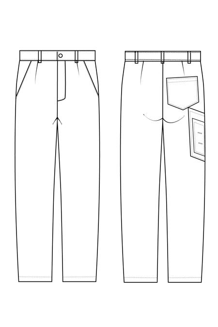 Выкройка костюма Механик брюки