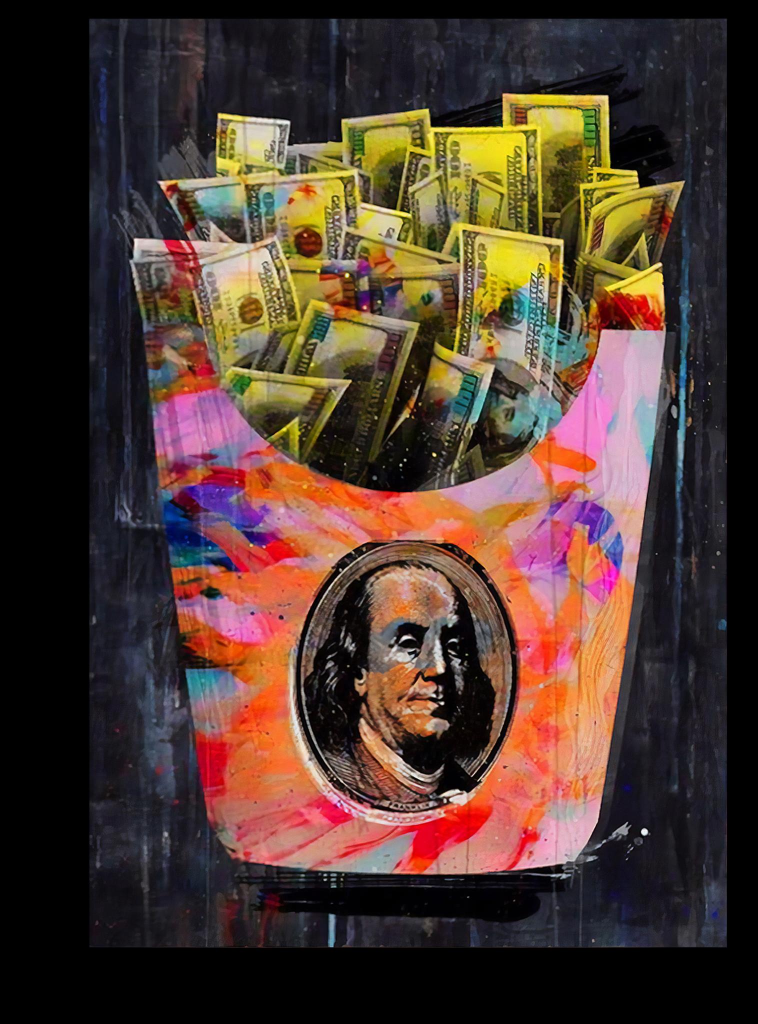 ведущий постер с долларами информацию, каталог аксессуаров