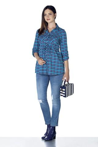 Рубашка для беременных 07860 синий