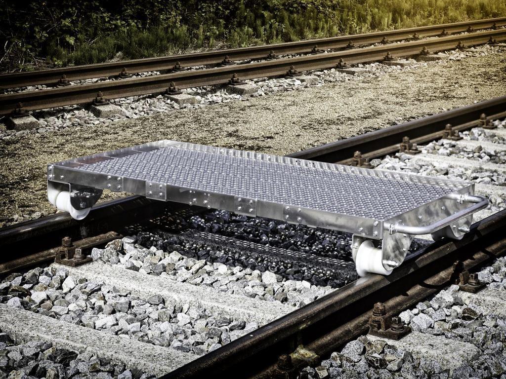 Железнодорожная рельсовая тележка с автостопом Robel 51.12