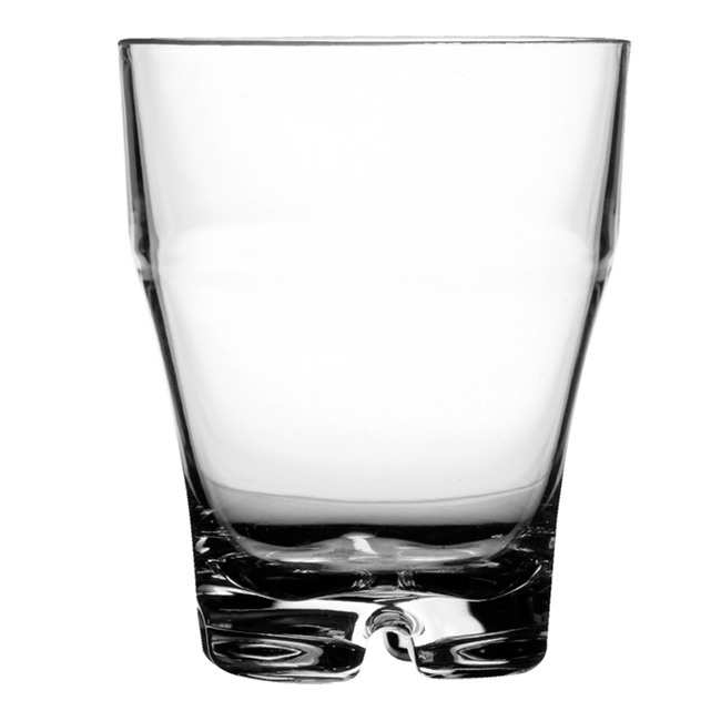 WATER STACKABLE GLASS CLEAR – PARTY