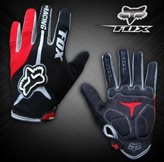 Велосипедные перчатки Fox длинные (красные)