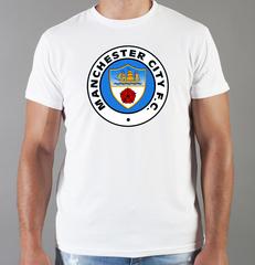 Футболка с принтом FC Manchester City (ФК Манчестер Сити) белая 005