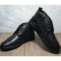 Зимние ботинки кожа мужские Rifellini Rovigo C8208 Black