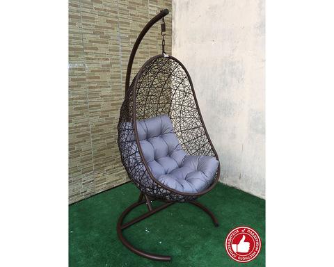 Подвесное кресло Изи коричневое