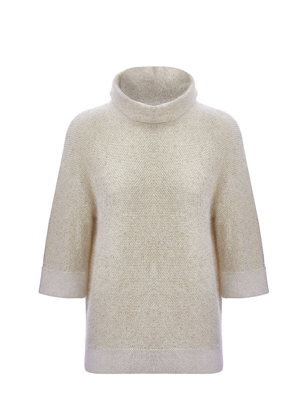 Женский свитер бежевого цвета из ангоры - фото 1