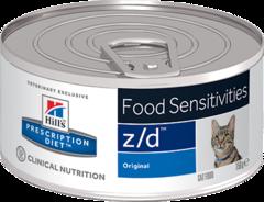 Ветеринарный корм для кошек Hill`s Prescription Diet z/d,  лечение острых пищевых  аллергий