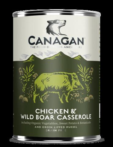Консервы Canagan с тушеной курицей и диким кабаном для собак