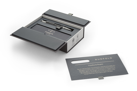 Шариковая ручка Parker Duofold Prestige Centennial, Black Chevron CT, MBlack123