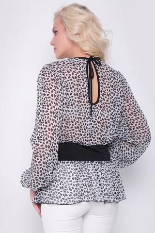 <p>Очень комфортная и невесомая блузка очарует Вас с первого взгляда. Рукав длинный на резинке. Талия из мягкого трикотажа. По спинке соблазнительный бантик.</p>