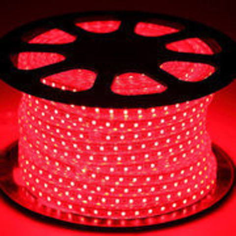 Светодиодная лента SMD5050/60, 220V влагозащищенная. Красная.