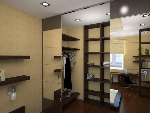 Гардеробная комната 300 х 150 см