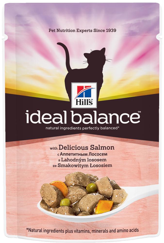 Hill's Пауч для кошек Hill's Ideal Balance Feline Adult, с лососем пауч_идеал_лос.jpg