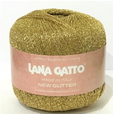 Пряжа Lana Gatto New Glitter 8587 золото