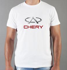 Футболка с принтом Chery (Чери) белая 001