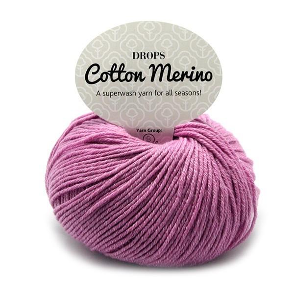 Пряжа Drops Cotton Merino 04 розово-сиреневый