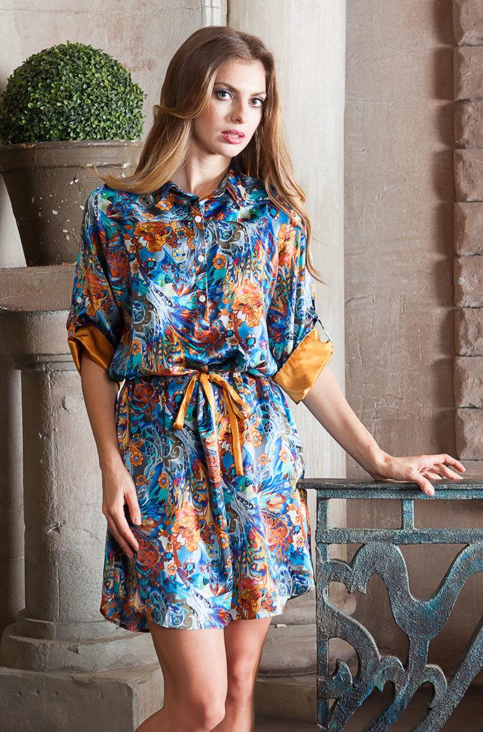 шелк натуральный Рубашка  женская натуральный шелк  MIA-MIA  Yesenia ЕСЕНИЯ  15136 15136_big.jpg