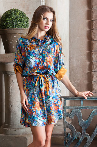 Рубашка  женская натуральный шелк  MIA-MIA  Yesenia ЕСЕНИЯ  15136