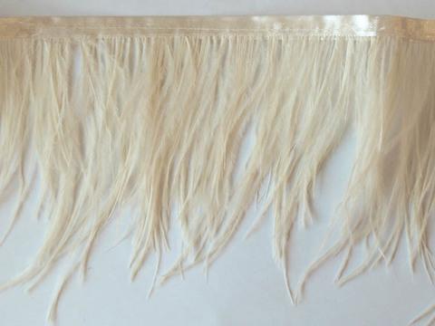 Тесьма  из перьев страуса h 10-15 см., айвори