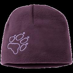 Шапка флисовая детская Jack Wolfskin Fleece Cap Kids aubergine