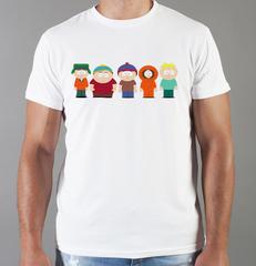 Футболка с принтом мультфильма Южный парк (South Park) белая 008