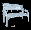 Скамейка со спинкой Беседа-3 (разборная) серый, ЗМИ