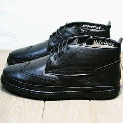 Черные ботинки на шнуровке мужские зимние Rifellini Rovigo C8208 Black