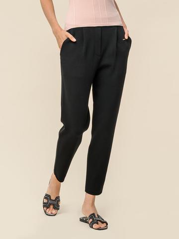 Женские укороченные брюки черного цвета из вискозы - фото 2
