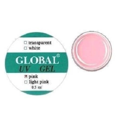 Гель для наращивания  Global - Pink, 15 мл