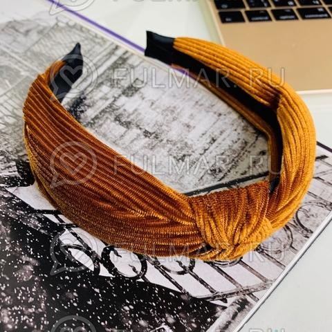 Ободок-чалма для волос (цвет: медный)