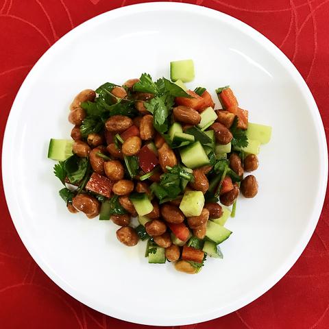 219 Салат арахис с овощами