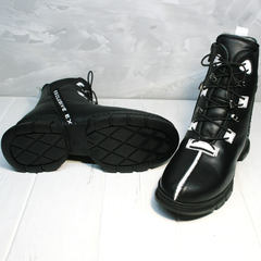 Ботинки женские кожа зимние Ripka 3481 Black-White.