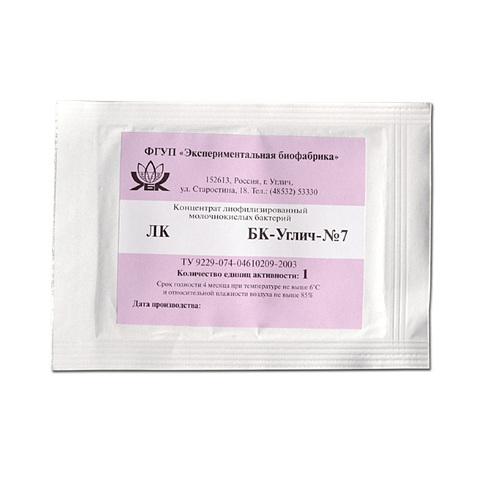 Мезофильная закваска БК-УГЛИЧ-7К, 1ЕА