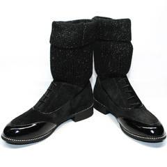 Ботинки полусапожки женские Kluchini 5161 k255 Black