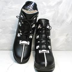 Ботинки ботильоны зимние Ripka 3481 Black-White.