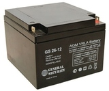 Аккумулятор General Security GS 26-12 ( GS12-26 ) ( 12V 26Ah / 12В 26Ач ) - фотография