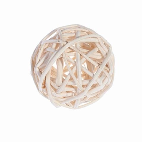 Плетеные шары из ротанга (набор:12 шт., d5 см, цвет: белый)