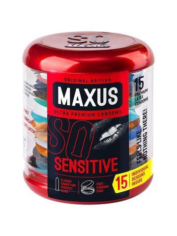 Ультратонкие презервативы в металлическом кейсе MAXUS Sensitive - 15 шт.