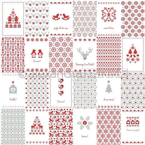 Лист одностороннего кардстока 30х30 см -Alexandra Renke Lena's Christmas Design Paper- Christmas- 1 шт