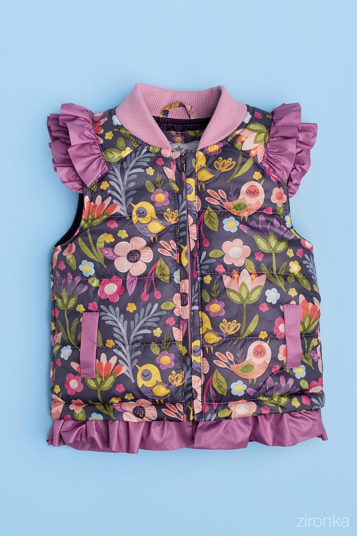 Жилет разноцветный для девочки 34-9002-3