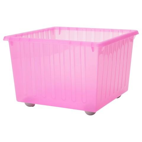 ВЕССЛА Ящик на колесах светло-розовый