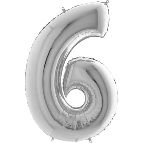 Цифра 6 (Серебряная)
