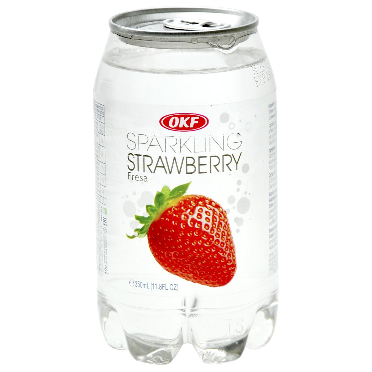 Газированная вода со вкусом клубники