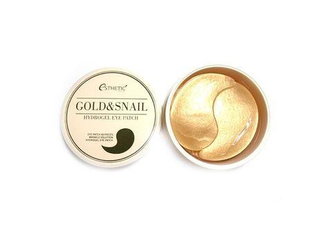 Гидрогелевые патчи для глаз с золотом и муцином улитки Esthetic House Gold & Snail Hydrogel Eye Patch