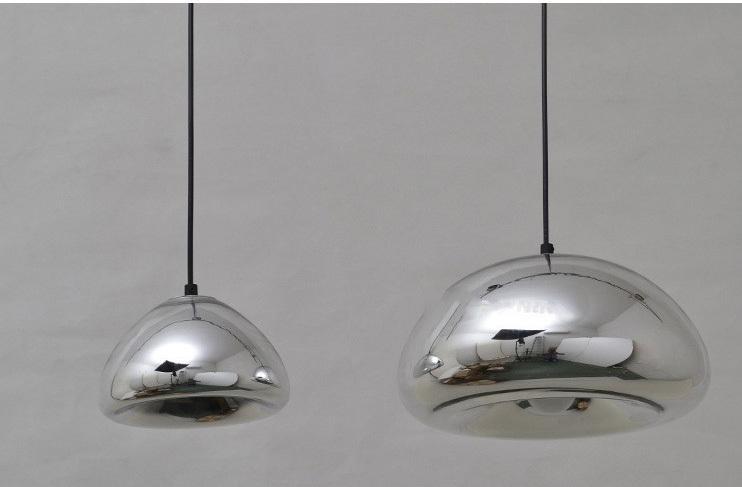 Подвесной светильник копия Void by Tom Dixon D30 (серебряный)